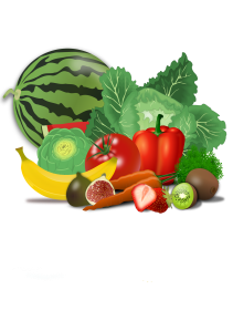 An image of fresh fruits and vegetables