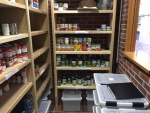 An image of Massasoit's Food Pantry located on the 1st floor of the Brockton Field House