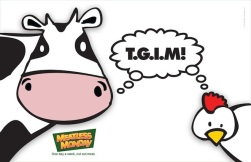 "A Meatless Monday cartoon with the caption ""T.G.I.M!"""
