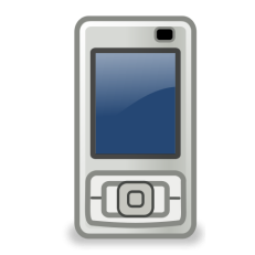 An image of a cell phone icon