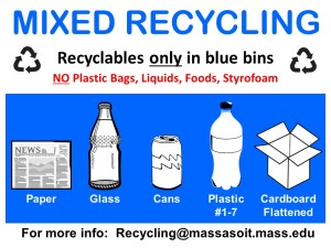 Massasoit's Mixed Recycling Poster